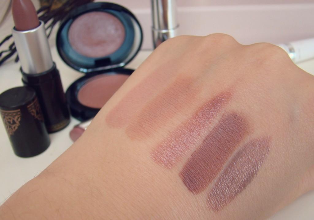 dark nude favorite brown Lipsticks swatches